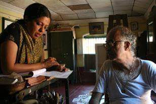 Anu pavanje with her Uncle, Shri. M.R.Pavanje !